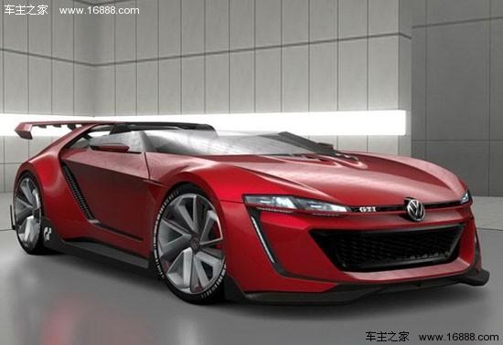 双门双座设计 大众GTI敞篷概念跑车官图