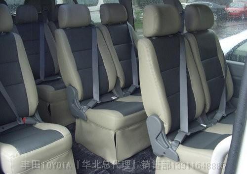 进口丰田海狮面包车座椅改装2014