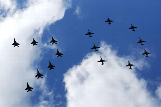 大阅兵飞机图片
