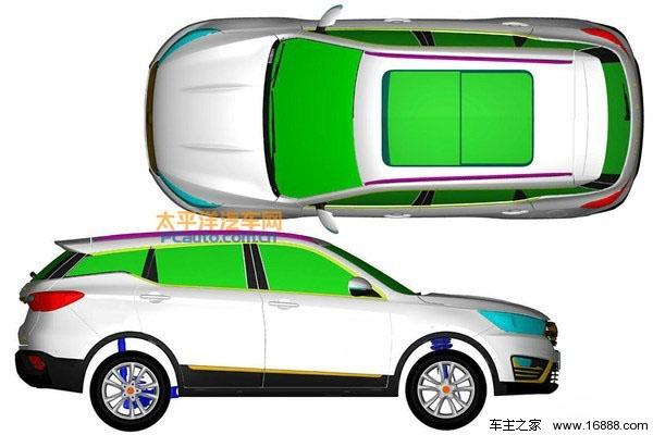 【车主之家 新闻】日前有国内媒体曝光了一组汉腾全新紧凑型SUV的专利图,新车内部代号为M11,其定位将低于目前推出的汉腾X7车型。据了解,这款全新紧凑型SUV将于2017年发布。汉腾是成立于2013年的新汽车企业,与众泰有密切关系。    从曝光的专利图来看,汉腾全新紧凑型SUV前脸采用六边形中网格栅设计,有些类似也福特锐界前脸格栅。两侧包括前大灯、雾灯格栅等部分的线条设计感较强。新车外观使用时下非常流行的悬浮式车顶设计,整体更为时尚耐看,定位比较年轻化。   动力系统方面,据了解这款全新紧凑型SUV将配