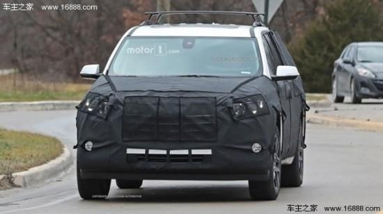 哈尔滨雪佛兰全新大型SUV谍照 车型命名待定