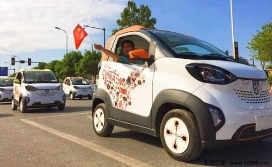 骏最新微型电动汽车宝骏E100的实车图高清图片