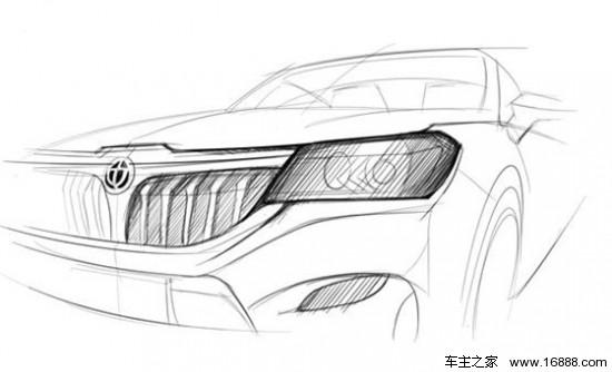 通过此次曝光的手绘图观察,华晨中华v6车型在整体外形上采用