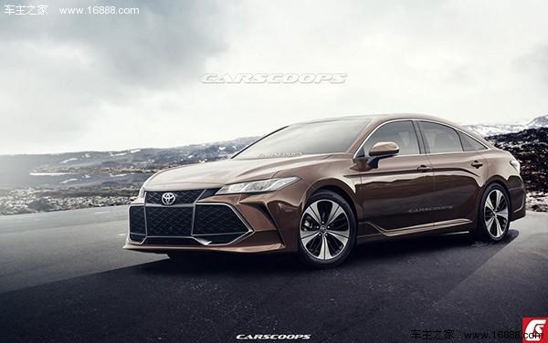 丰田亚洲龙预告图 将北美车展发布/未来引入中国